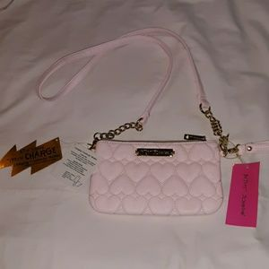 NWT Betsey Johnson Charging Pink Crossbody Purse